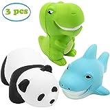 INNOCHEER Squishy Spielzeug Jumbo 3 Stück Langsam Steigende Squishy Toys - Panda Dinosaurier Hai Stress-Relief Kawaii Squeeze Spielzeug für Kinder Erwachsenes