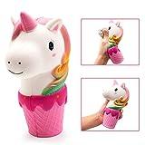 MMTX Einhorn langsam steigend Squishy Spielzeug, Soft Squeeze Toys Stress Jumbo Squishies Relief Dekompression Geschenk für Mädchen Jungen Erwachsene