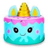BeYumi Squishies Einhorn Einhorn-Wal Kuchen Emoji Spielzeug Quetschen Spielzeug Slow Rising Antistress Squishies Spielzeug Geschenk für Kinder Erwachsene