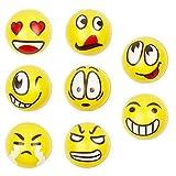 THE TWIDDLERS 24 Emoji Squishy Spielzeugball - Emoticon Squeeze Anti-Stress-Spielzeugkugeln - Stressabbaukugel Spielzeug Fingerübung - ideale Aktivität in Innenräumen für Kinder