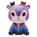 Wunderwald Squishie REH Galaxie Süß Kinder Geschenk Spielzeug Langsam Steigend Antistress Squishy Galaxy Deer Slow Rising Kawaii Gift