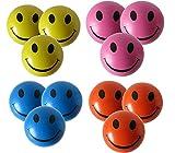 Stressballs 12 x Antistressbal l Mischfarbe – Gelb, Rosa, Blau und Orange Stressballs - Smiley Stress Ball - Knautschball, Kleiner Ball